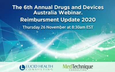 6th Annual Drugs & Devices Australia Webinar, 2020 – Reimbursement Update.